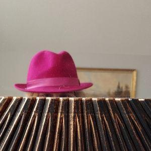 Fedora-Pink fushia/magenta Hat